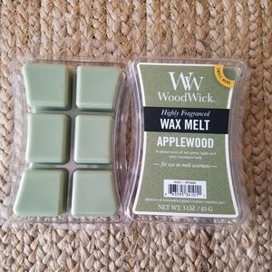 Two Packs Woodwick Applewood Wax Mel…